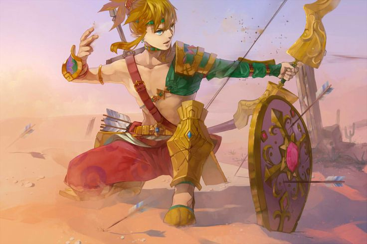The Legend of Zelda: Breath of the Wild || Link wearing voe dessert clothes