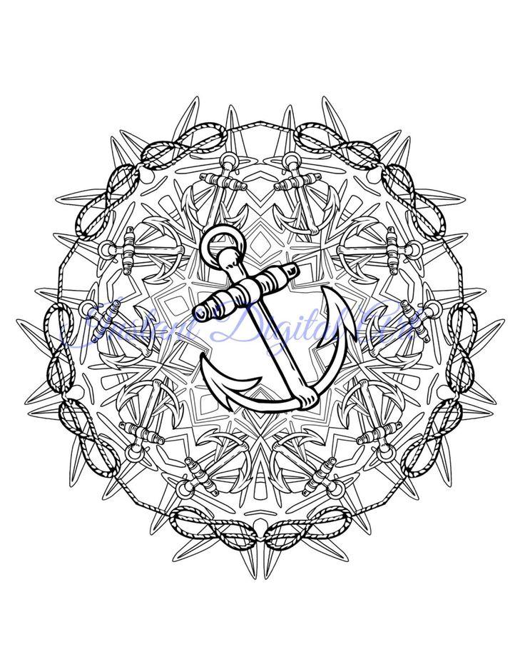 Mandala Coloring Pages Mehndi Henna