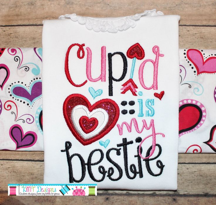 Cupid is My Bestie Shirt, Heart Shirt,  Girl's Valentine Shirts, Valentine's Shirt, Kids Valentine's Shirt, Love Holiday by kmtdesigns914 on Etsy https://www.etsy.com/listing/261635698/cupid-is-my-bestie-shirt-heart-shirt