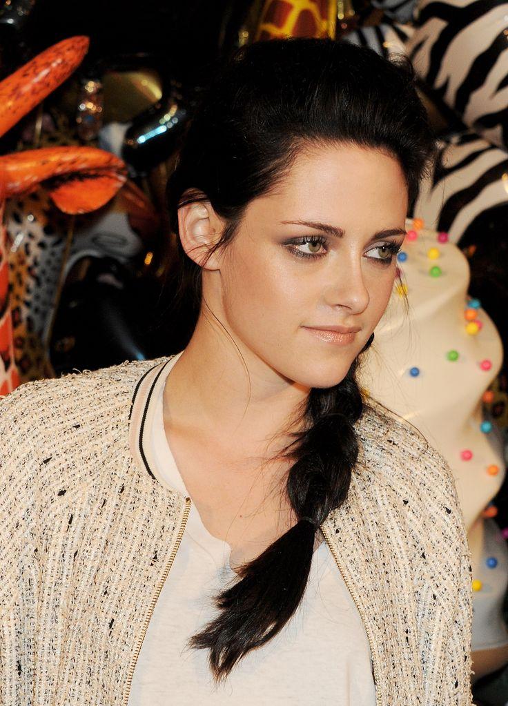 """Kristen Stewart tries a fishtail braid with a """"tougher"""
