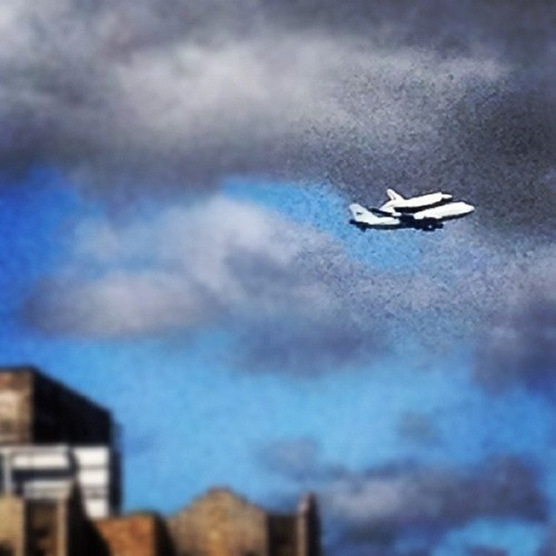 Space shuttles in NY. NBD...