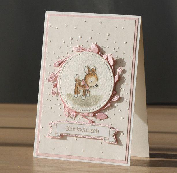 Cartes pour bébé et naissance – Carte de bébé, carte de naissance pour une fille – A …   – Karten Baby