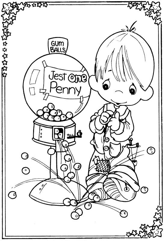 boy and a gum machine precious moments coloring pages coloring pages