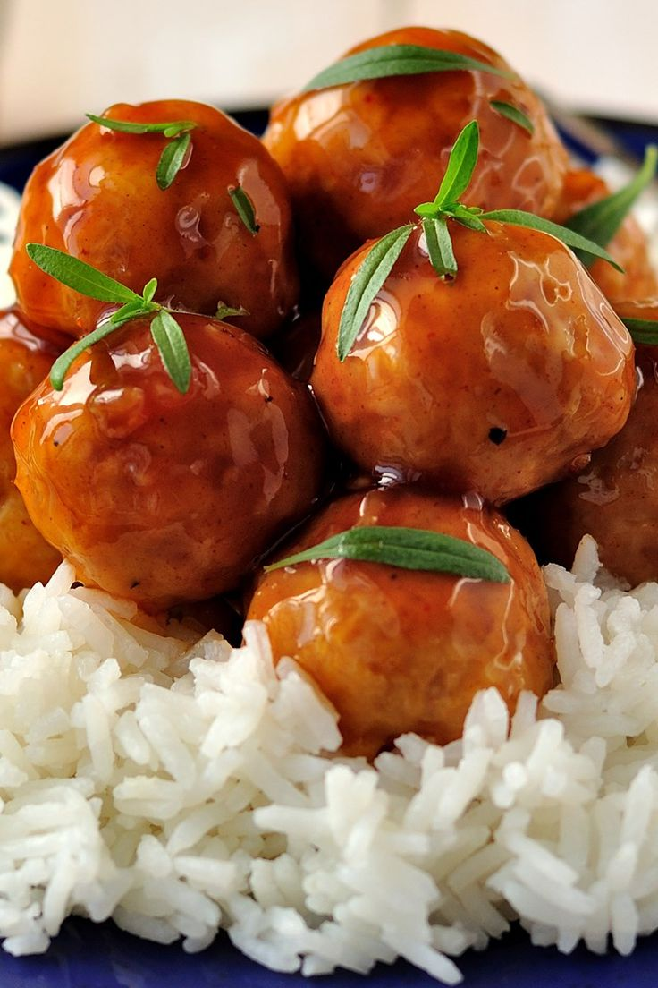 The Best Sweet and Sour Meatballs Recipe - meatballs simmered in a mouthwatering brown sugar, white vinegar, and soy sauce glaze