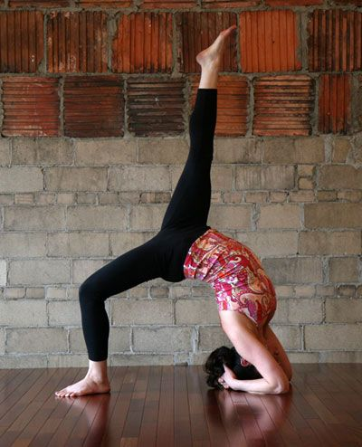 ... legged inverted staff pose. I'm working on my backbends, these days