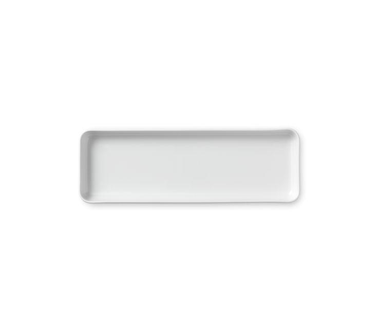 White Fluted Dish 36 cm