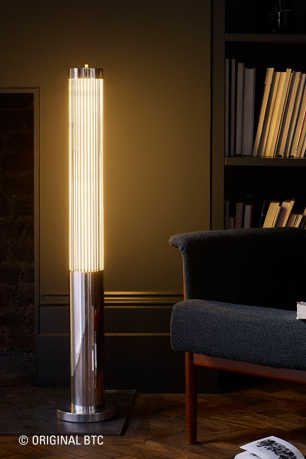 With autumn setting in there isn't a better time to relax into a cosy corner with a good book - why not sit by our radiant Davey Pillar Light? Available in chrome or brass