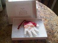 d.i.y. santa hand ornament.