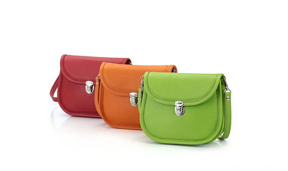 Small Leather Ladies Bag  Miniature Crossbody Bag for Women