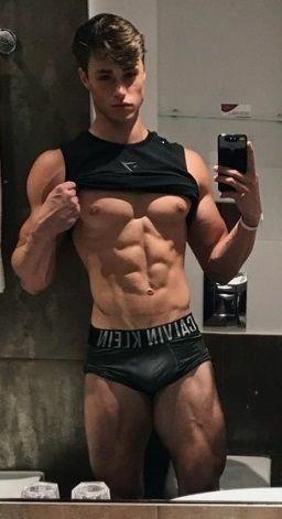 Hot Stud Hunk Twink Shirtless Ripped Jock Bulge Wet Men Male Cock Ring Underwear Selfie Mirror Shower Cockymale Cockymale Com