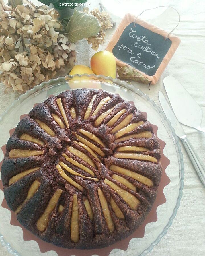 Torta rustica pere e cacao