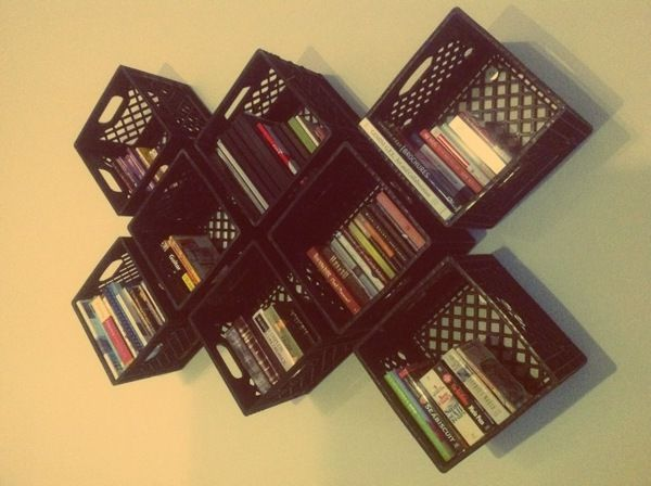 bing images of recycled milk crates | Milk Crate Modular Shelf System