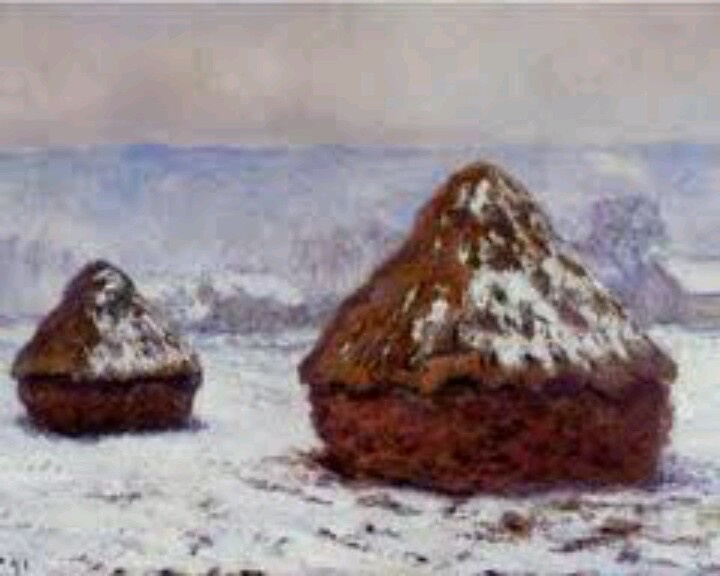 an analysis of the impressionist painting grainstack sunset by claude monet Haystacks is a title of a series of impressionist paintings by monet the primary subjects of all of the paintings in the series are stacks of hay in the field after the harvest season.