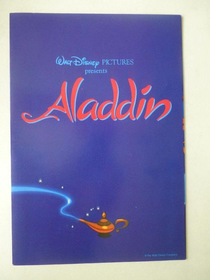 Walt Disney's Aladdin 1992 A4 Fold Out Card Press Release Synopsis/Cast etc  http://r.ebay.com/JYIto2