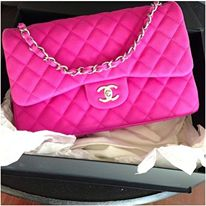 pink channel bag !!