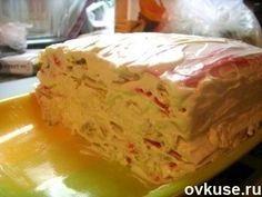 Крабовый тортик.Новое блюдо для Новогоднего стола