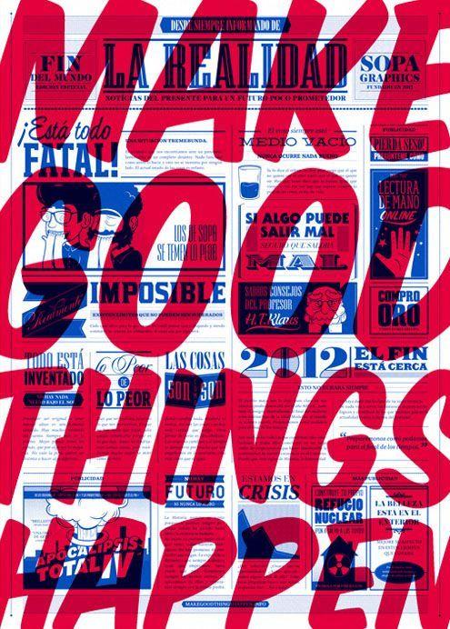 Beispiele, Vorlagen und Ideen für über 11-fette Typografie-Poster – Daily Design Inspirat – Giannis