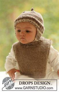 "DROPS hat in ""Fabel"" and neck warmer in ""Alpaca"" ~ DROPS Design"