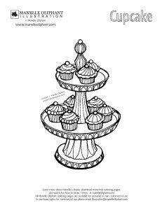 Free Coloring Page Friday: Cupcakes - Manelle Oliphant Illustration