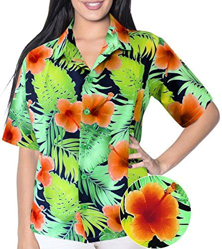 HAWAIIAN CASUAL FLORAL PRINTED V NECK POINT COLLAR WOMEN SHIRTS 1887 Orange M. Do YOU want blouse in other colors Like Red | Pink | Orange | Violet | Purple | Yellow | Green | Turquoise | Blue | Teal | Black | Grey | White | Maroon | Brown | Mustard | Navy ,Please click on BRAND NAME LA LEELA above TITLE OR Search for LA LEELA in Search Bar of Amazon To get COMFORTABLE FIT and Right SIZE FOR YOU, request you to view SIZE CHART See LA LEELA's SIZE IMAGE in Product Image on the left. SAVE…