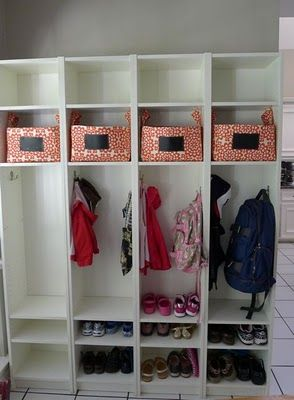 Ikea Billy Bookcase Mudroom lockers @Leanne Smetaniuk kinda thought of your back entry ... if you were still thinking of something.. I think it might work for mine too.. :)