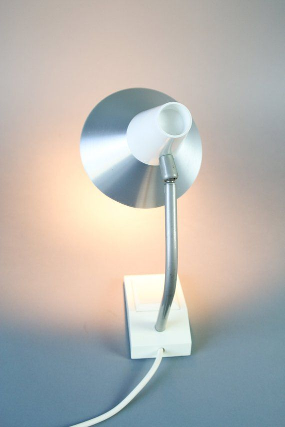Mid Century Table Lamp German Modern Lamp White Desk Lamp By