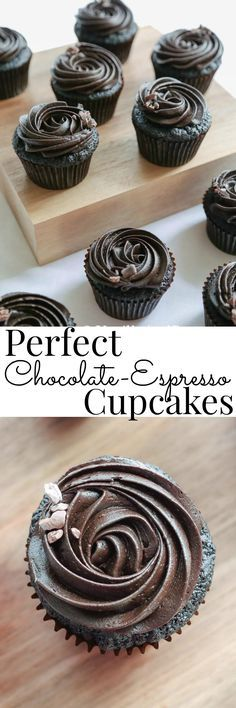 A tried and true dark chocolate cupcake with just the right amount of icing | Vanilla And Bean