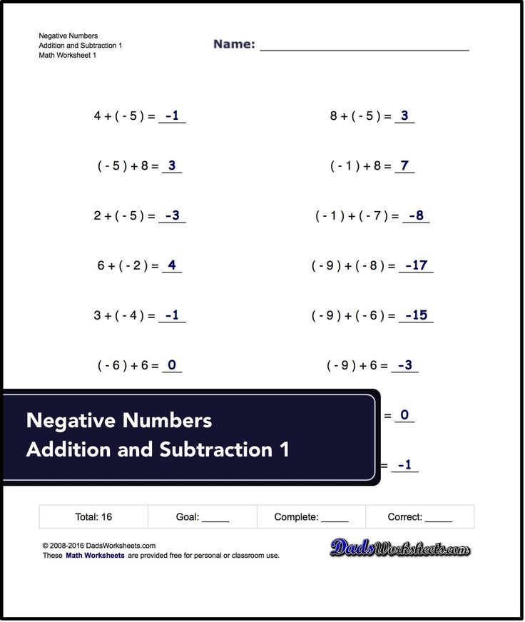 Homework help math negative numbers