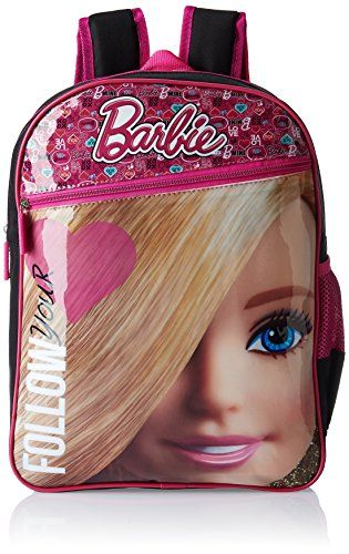 #3: Barbie Pink and Black Children's Backpack (MBE - MAT023)