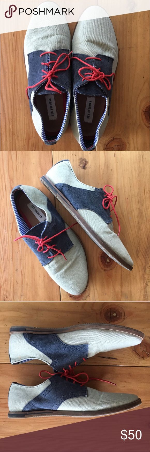 Ben Sherman suede & canvas two toned shoes Two toned canvas shoes- in great condition Ben Sherman Shoes Oxfords & Derbys
