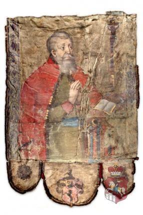 Chorągiew nagrobna Feliksa Konstantego Bracławskiego (1590-1660), z łaski Lubomirskich podstarościego podolinieckiego