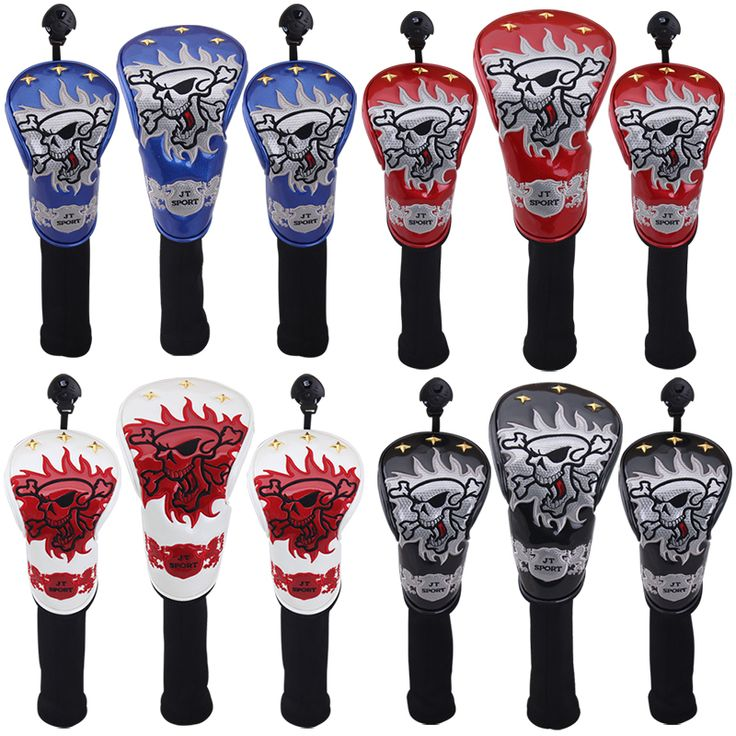 1. 3 stylish contoured head covers     2. Innovative materials and sleek design     3. Numbered 1, 3 and X     4. The size 1 fits all oversized drivers     5. Nylon sock protects shafts from damage     6. 3-location team embroidery