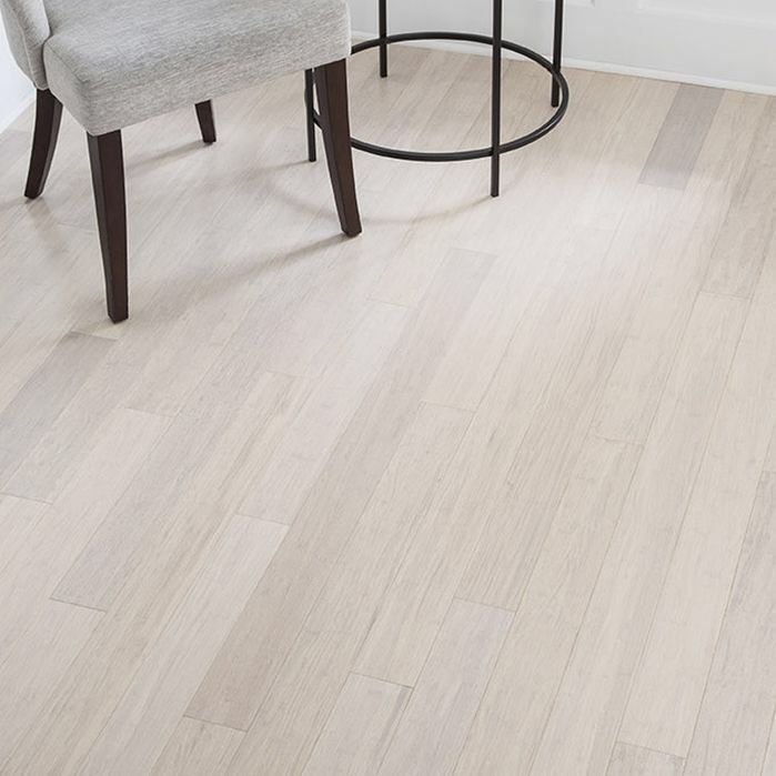"3-5/8"" Solid Bamboo Hardwood Flooring in White"