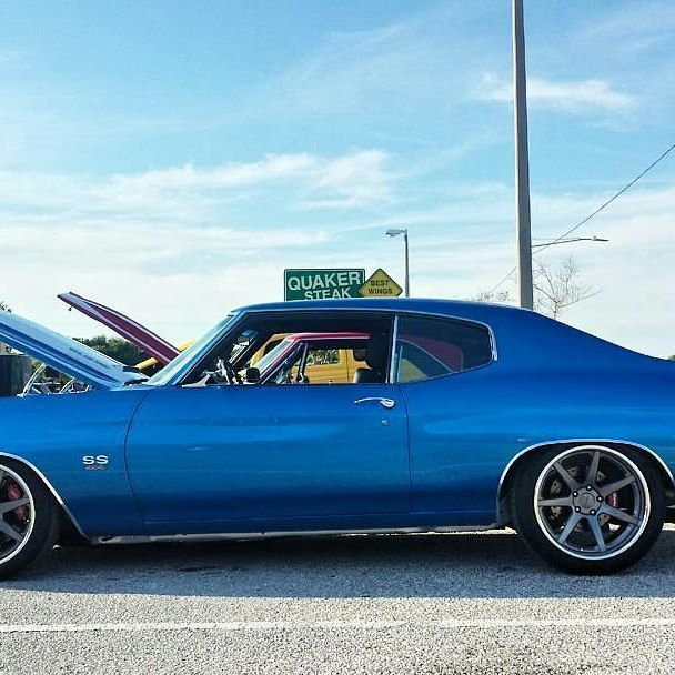 70 chevelle blue and white multi spoke concave wheels pro. Black Bedroom Furniture Sets. Home Design Ideas