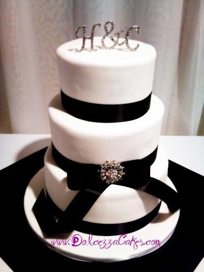 Black and white tuxedo wedding cake. www.DolcezzaCakes.com   alice ...