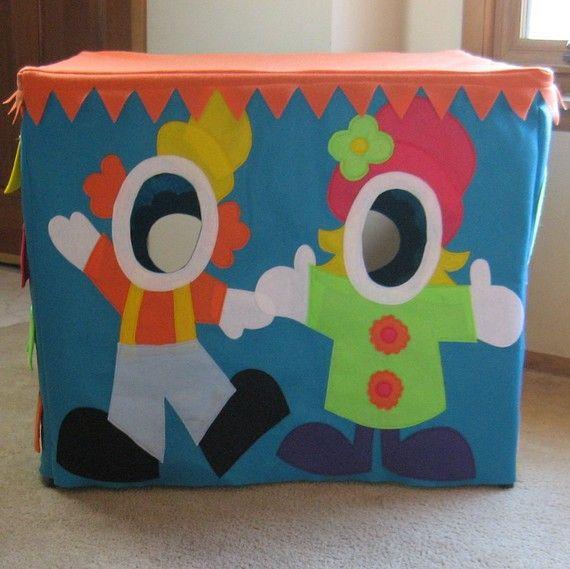 cute photo booth idea for the card table playhouse