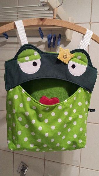 Wäscheklammernbeutel - Utensilo ♥♥♥ Klammerbeutel Frosch ♥♥♥ Hän... - ein…