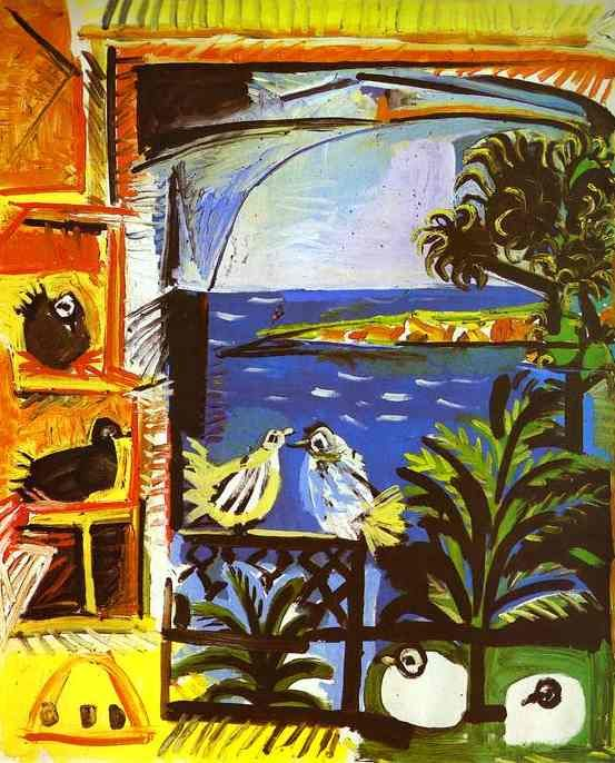 Pablo Picasso. The Doves. 1957. Oil on canvas