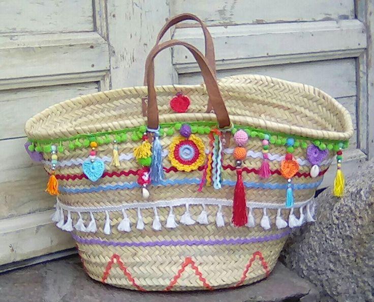 Straw Ibiza bag