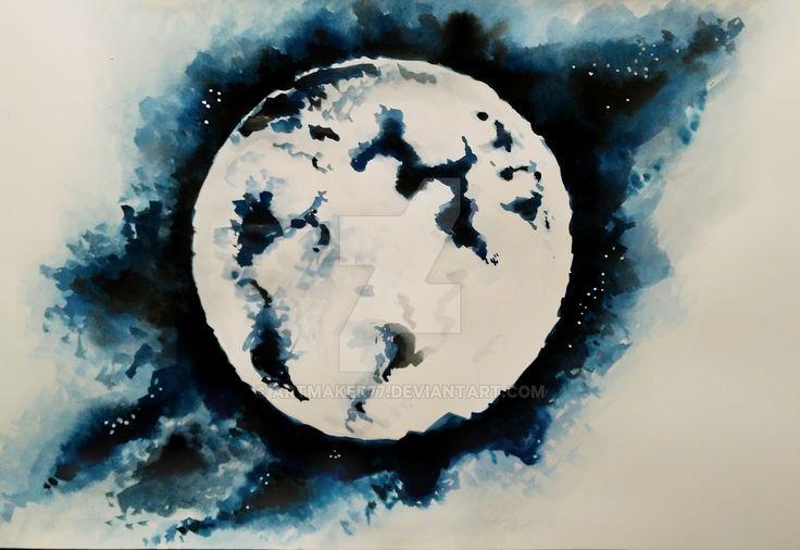 Moon by artmaker77.deviantart.com on @DeviantArt