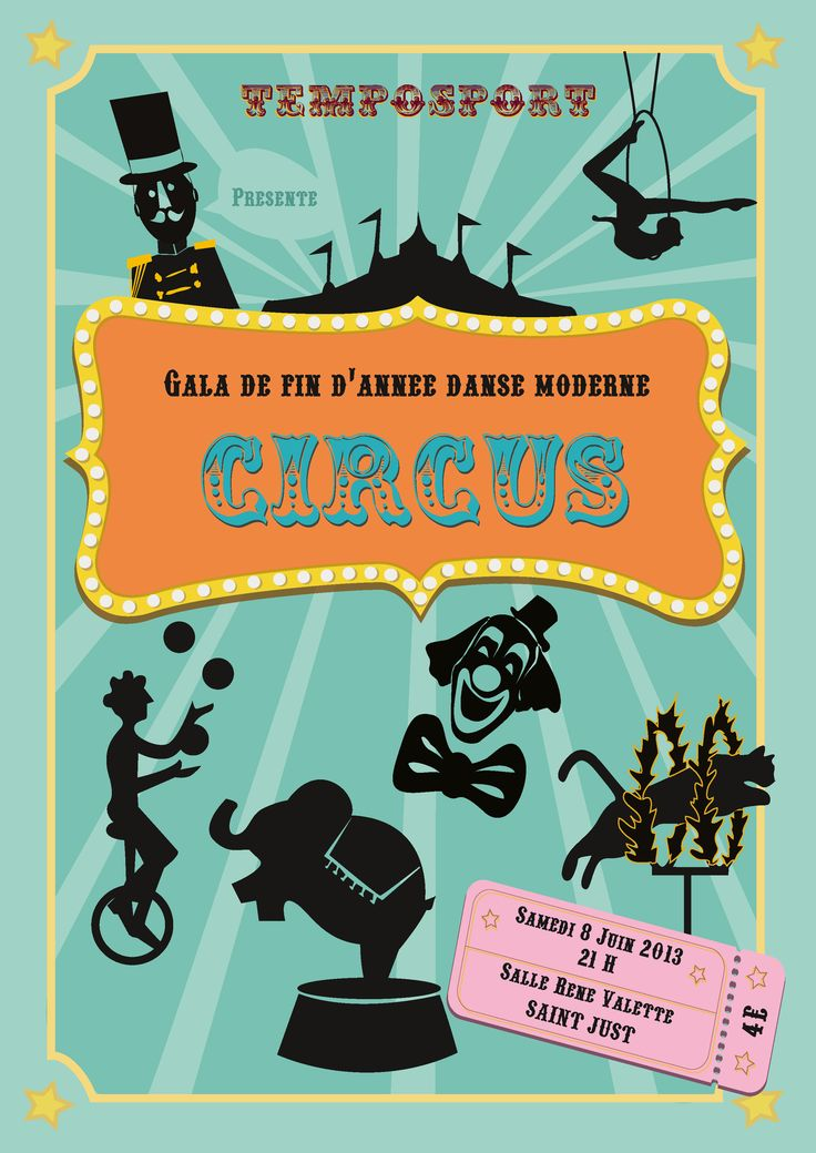 Affiche - gala de danse - Circus - 2013
