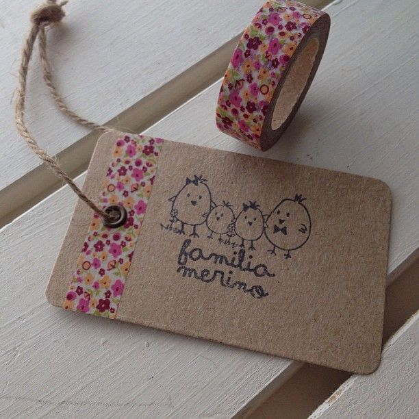 Simple Kraft Tag #washi #tape #stamp #easy #diy #gift #wrapping #presents…