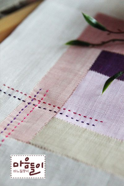 An attractive patchwork stitched linen ~~: Naver blog