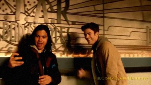 'Cisco' and 'Barry' on 'The Flash' episode: 'Welcome to Earth-2'