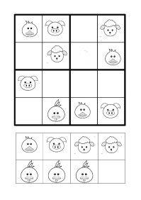 des sudokus en ligne très simples un petit carnet de sudokus animaux de la ferme