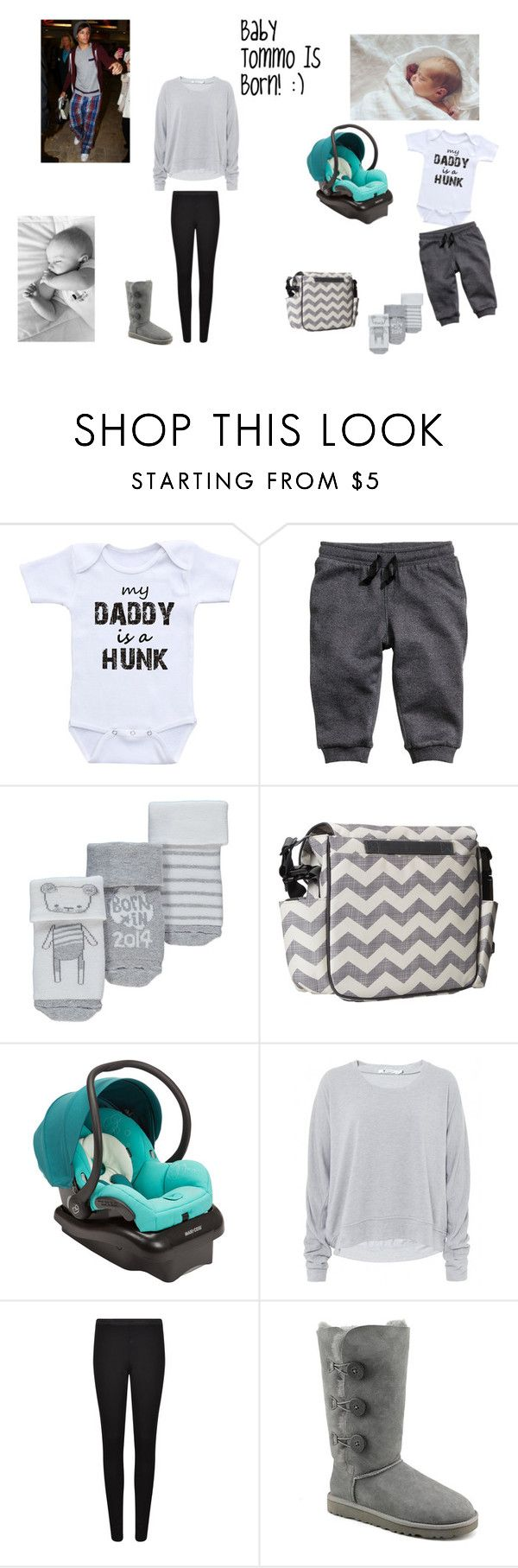 """Baby Tommo Is Born! :)"" by schmitzhappens ❤ liked on Polyvore featuring Skip Hop, Maxi-Cosi, T By Alexander Wang, French Connection and UGG Australia"