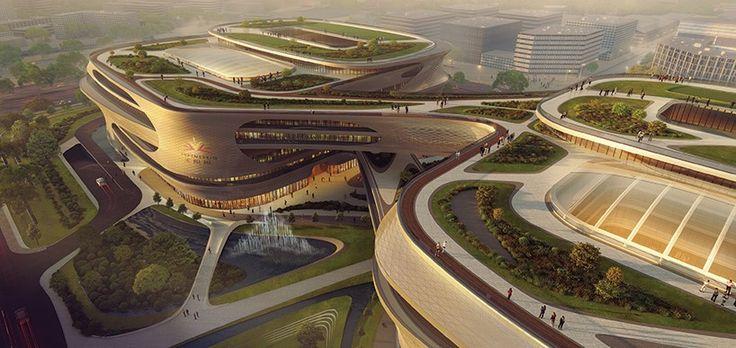 zaha hadid infinitus plaza guangzhou designboom