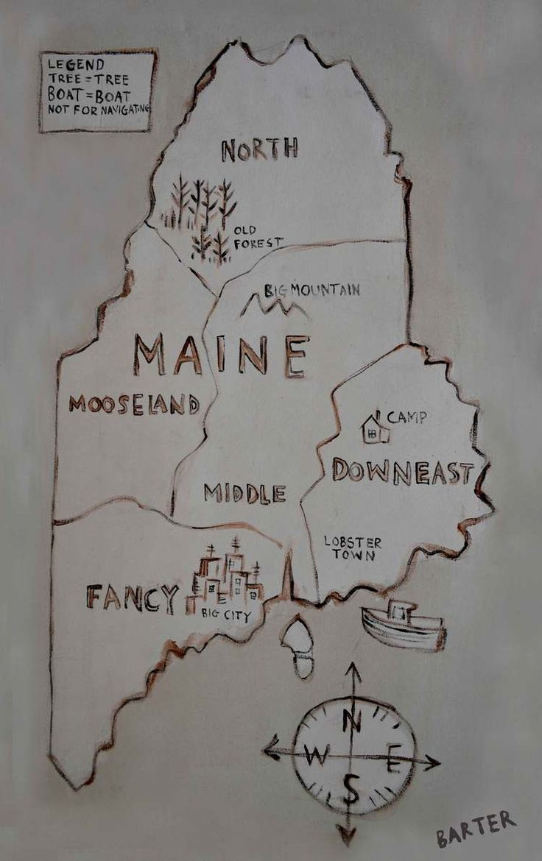Maine map 207 best Maine land images