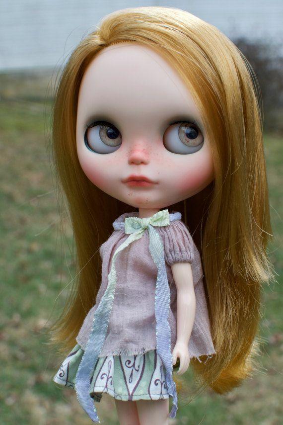 OOAK benutzerdefinierte Blythe Puppe Gesicht von ChassyKnitLove