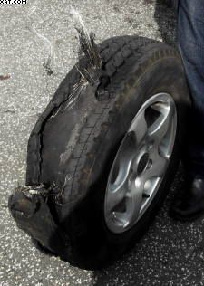All tyred out-Motorhome tyres,blownout caravan tyre#tyres